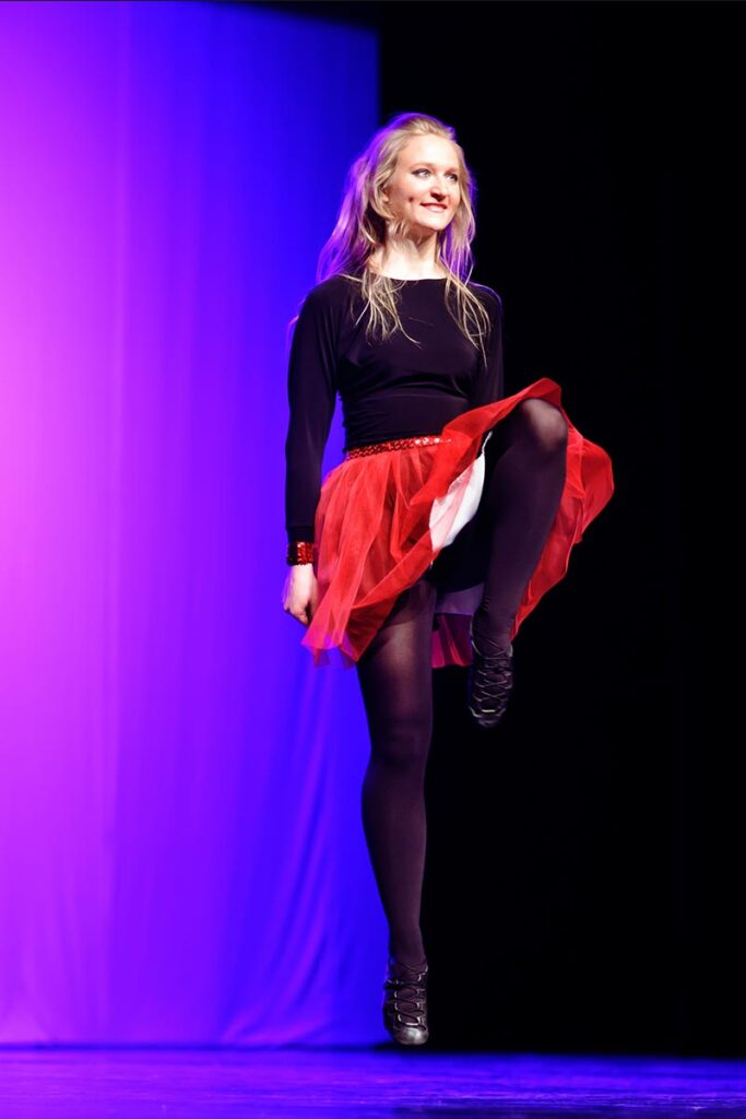 tancerka tańca irish