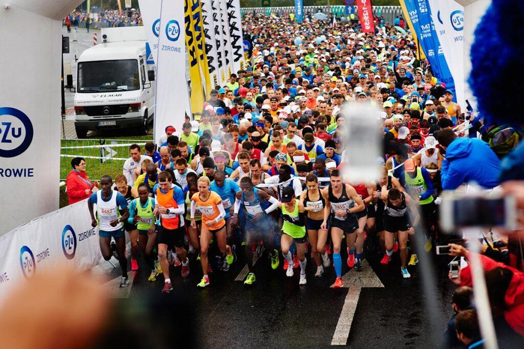 zdjęcia maratończyków w krakowie